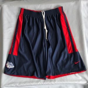 Vintage Nike Gonzaga Bulldogs Reversible Shorts XL